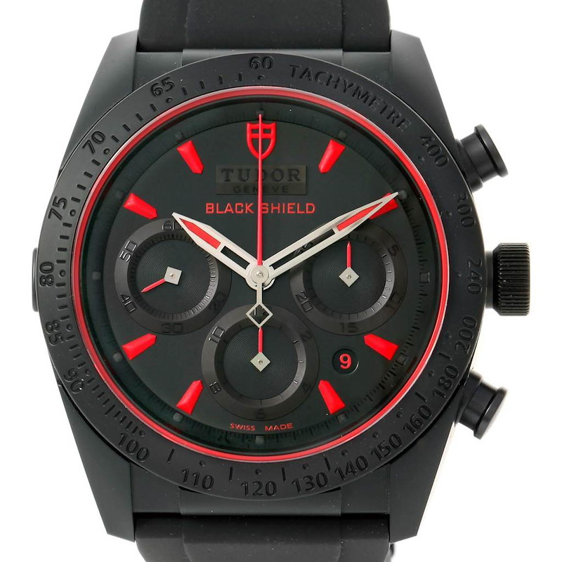 Tudor Fastrider Black Shield Rubber Mens Watch 42000C SwissWatchExpo