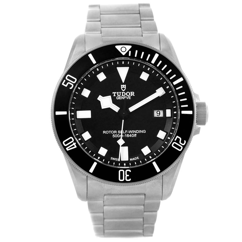 18878 Tudor Pelagos Titanium Steel Black Dial Mens Watch 25500TN SwissWatchExpo