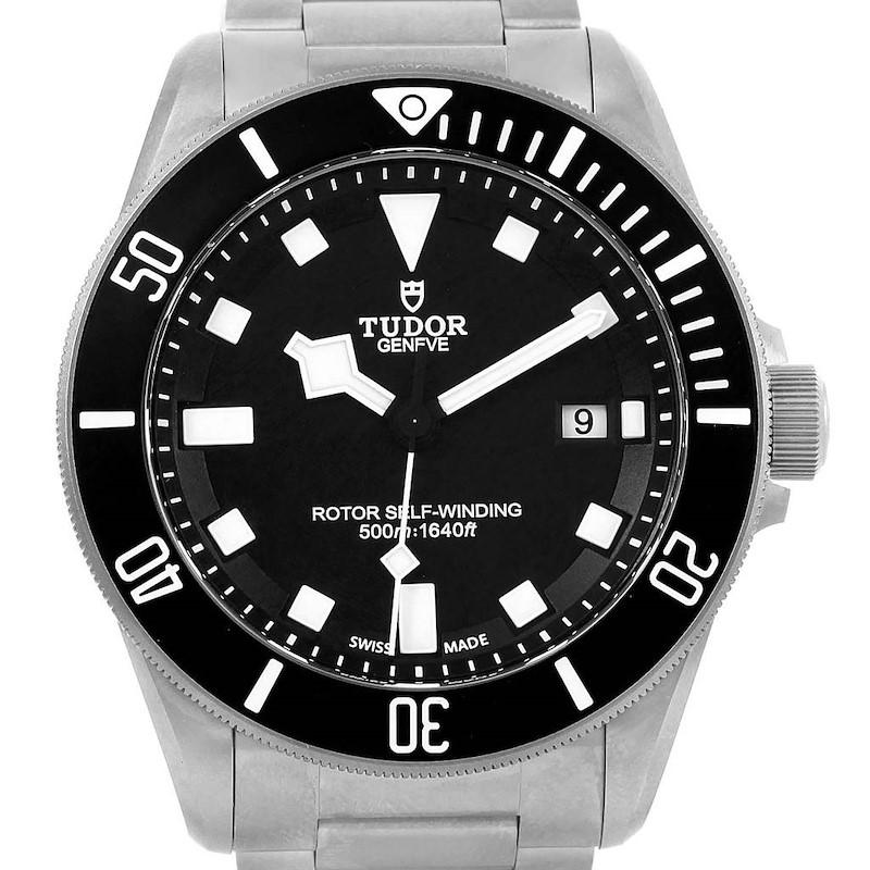 Tudor Pelagos Titanium Steel Black Dial Mens Watch 25500TN SwissWatchExpo