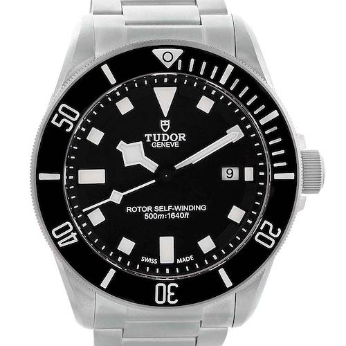Photo of Tudor Pelagos Titanium Steel Black Dial Mens Watch 25500TN Box Card