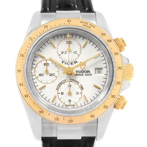 Photo of Tudor Tiger Woods Steel Yellow Gold Chronograph Mens Watch 79263