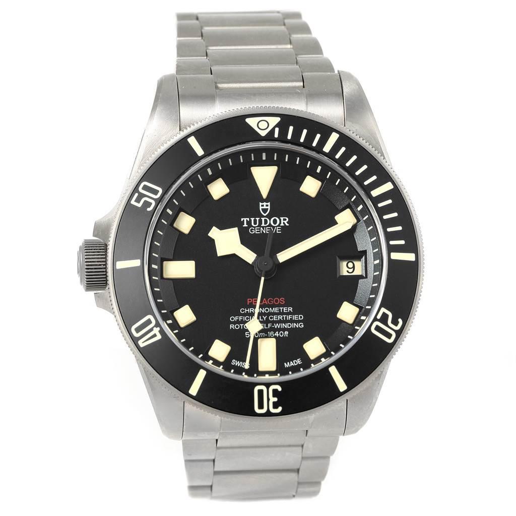 18912 Tudor Pelagos 42mm LHD Titanium Steel Mens Watch 25610 SwissWatchExpo