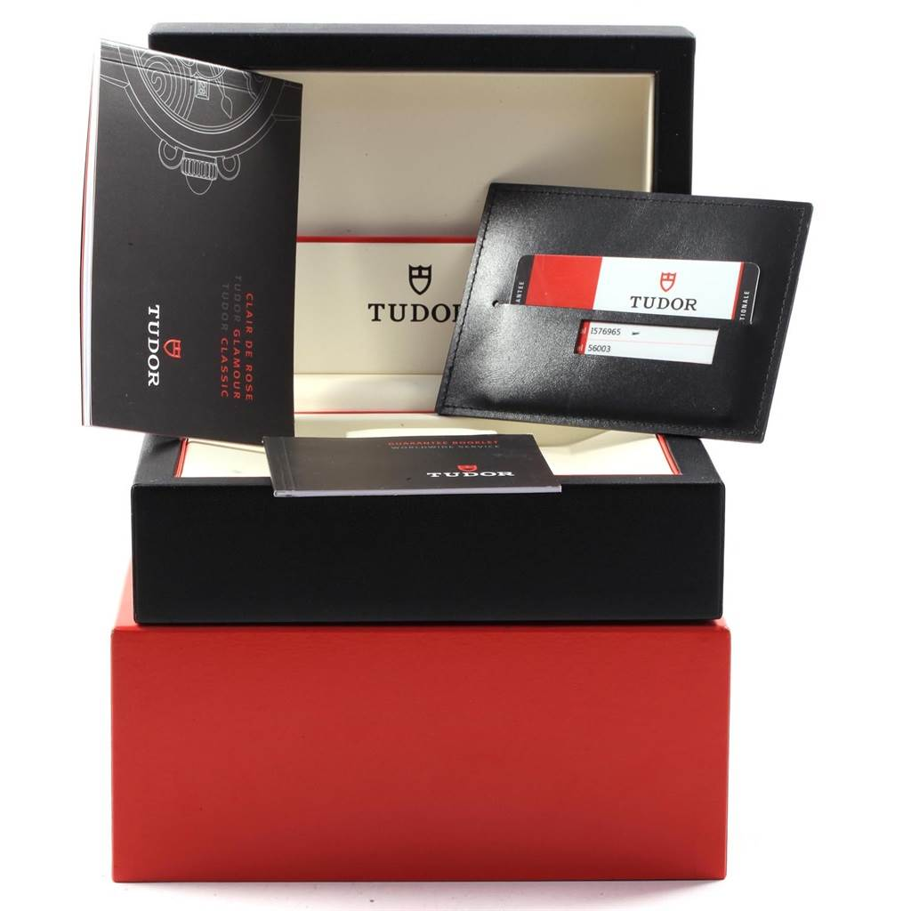 Tudor Glamour Day Date 39mm Steel Yellow Gold Mens Watch 56003 Box Papers SwissWatchExpo