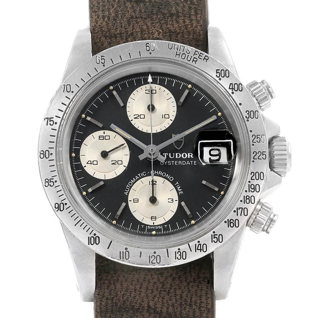 20354 Tudor Big Block Black Dial Steel Vintage Mens Watch 94300 SwissWatchExpo
