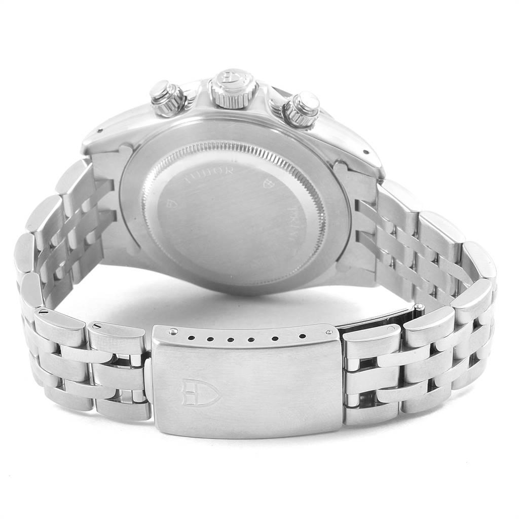 Tudor Prince Blue Dial Steel Chronograph Mens Watch 79280 SwissWatchExpo