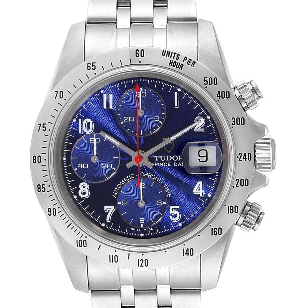 Photo of Tudor Prince Blue Dial Steel Chronograph Mens Watch 79280