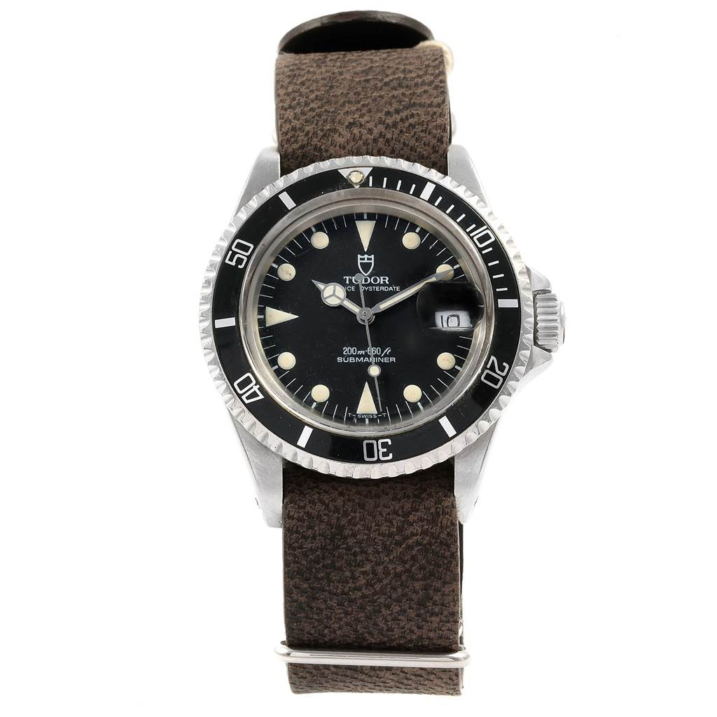 20278 Tudor Submariner Prince Oysterdate Black Dial Steel Mens Watch 79090 SwissWatchExpo