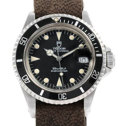 Photo of Tudor Submariner Prince Oysterdate Black Dial Steel Mens Watch 79090