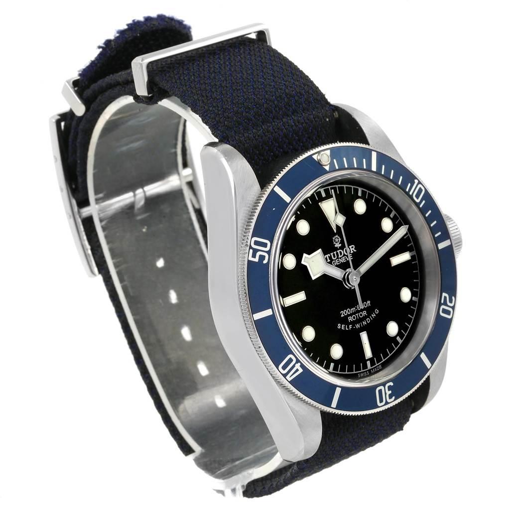 7435X Tudor Heritage Black Bay Blue Bezel Steel Watch 79220B SwissWatchExpo