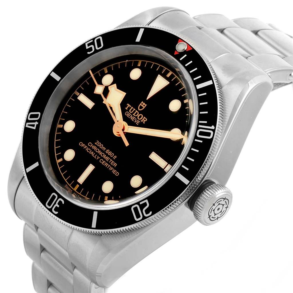 21068 Tudor Heritage Black Bay Stainless Steel Mens Watch 79230N Box Papers SwissWatchExpo
