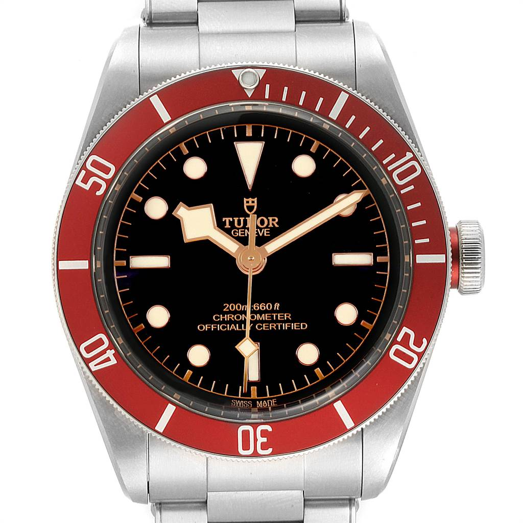 Tudor Heritage Black Bay Burgundy Bezel Mens Watch 79230R Box Papers SwissWatchExpo