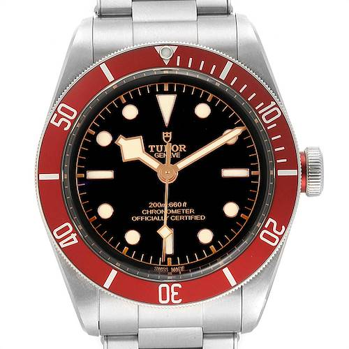 Photo of Tudor Heritage Black Bay Burgundy Bezel Mens Watch 79230R Box Papers