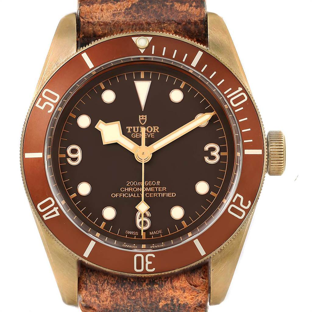 Photo of Tudor Heritage Black Bay 43 Bronze Dial Mens Watch 79250 Box Card