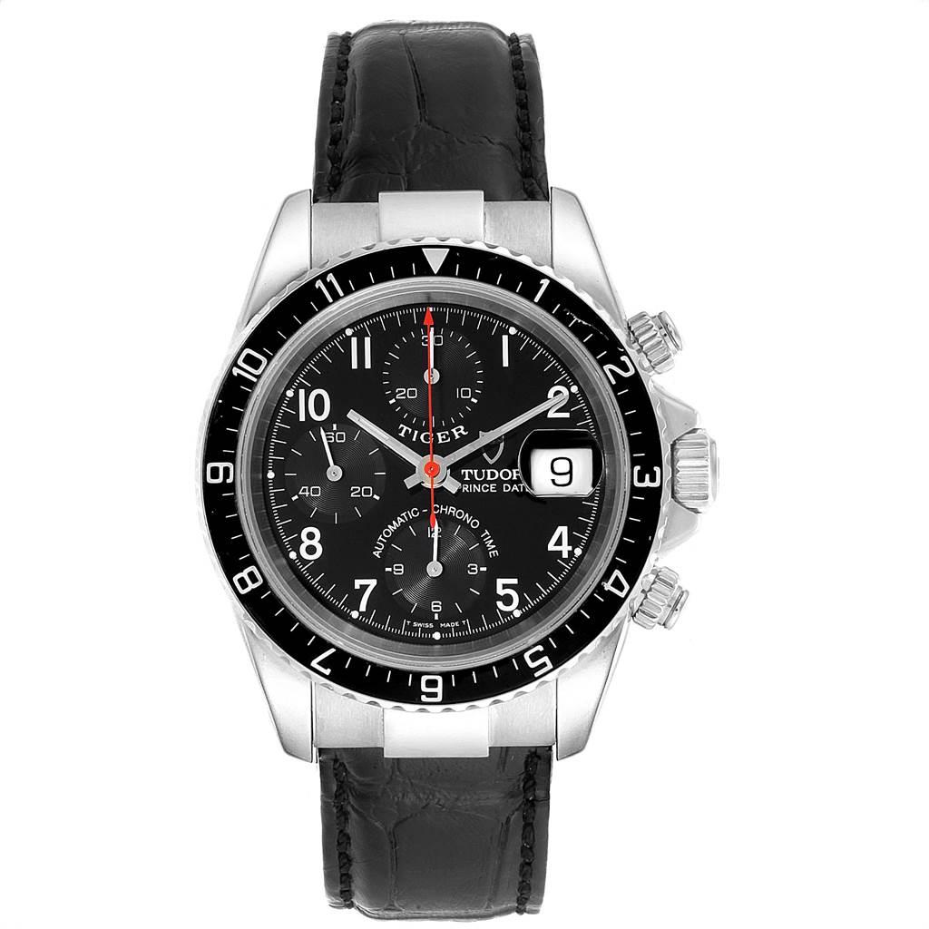 Tudor Tiger Woods Prince Date Black Dial Steel Mens Watch 79270 SwissWatchExpo