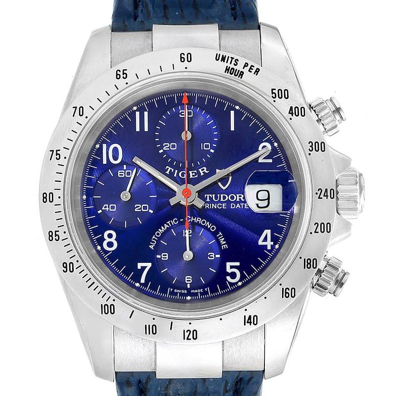 Tudor Tiger Woods Chronograph Blue Dial Steel Mens Watch 79280P SwissWatchExpo