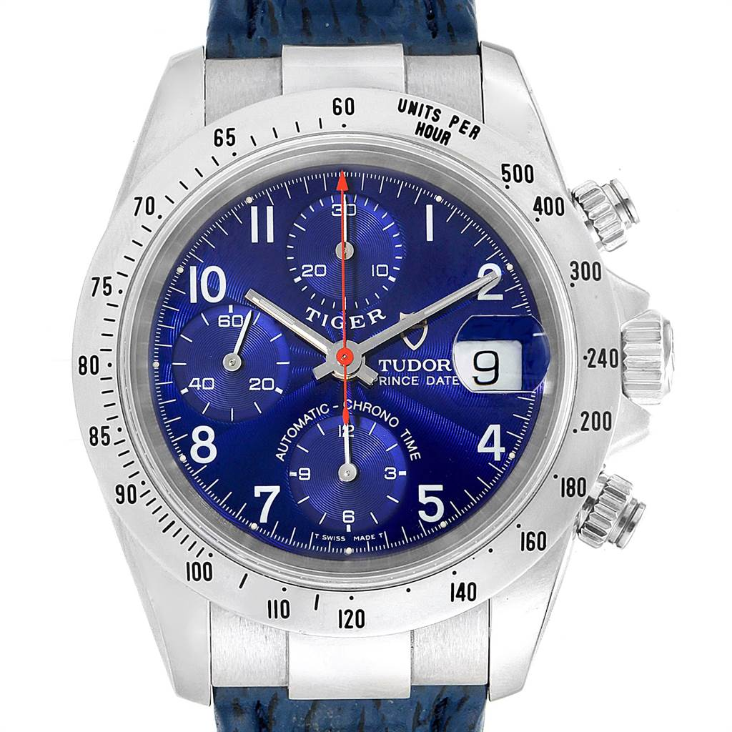 Photo of Tudor Tiger Woods Chronograph Blue Dial Steel Mens Watch 79280P