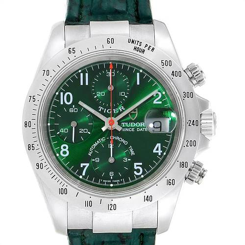 Photo of Tudor Tiger Woods Chronograph Green Dial Steel Mens Watch 79280P