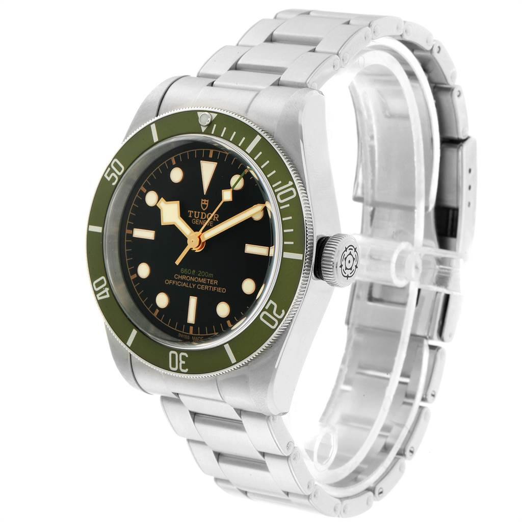 23172 Tudor Heritage Black Bay Harrods Green Special Edition Mens Watch 79230G SwissWatchExpo