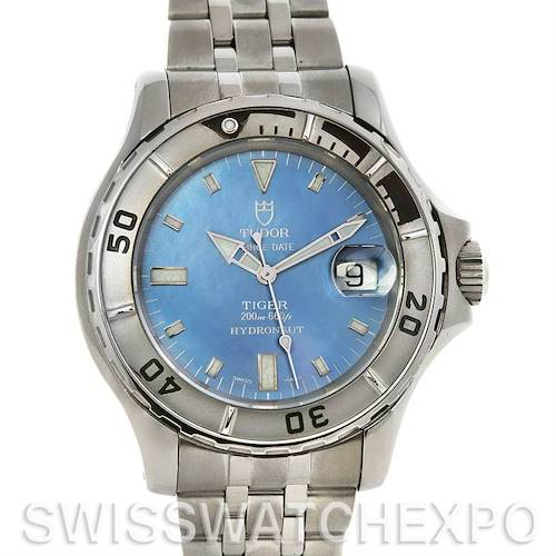 Photo of Tudor Prince Date Hydronaut Tiger Blue MOP dial 89190 P