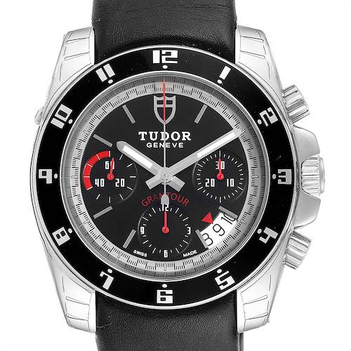 Photo of Tudor Grantour Black Dial Chronograph Steel Mens Watch 20350N Unworn