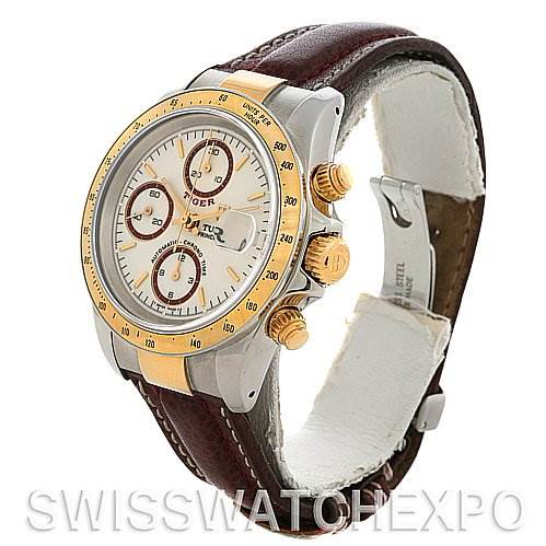 Tudor Tiger Woods Chronograph Steel and 18K Yellow gold 79263 Watch SwissWatchExpo