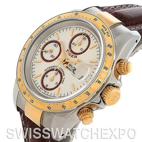 2654 Tudor Tiger Woods Chronograph Steel and 18K Yellow gold 79263 Watch SwissWatchExpo