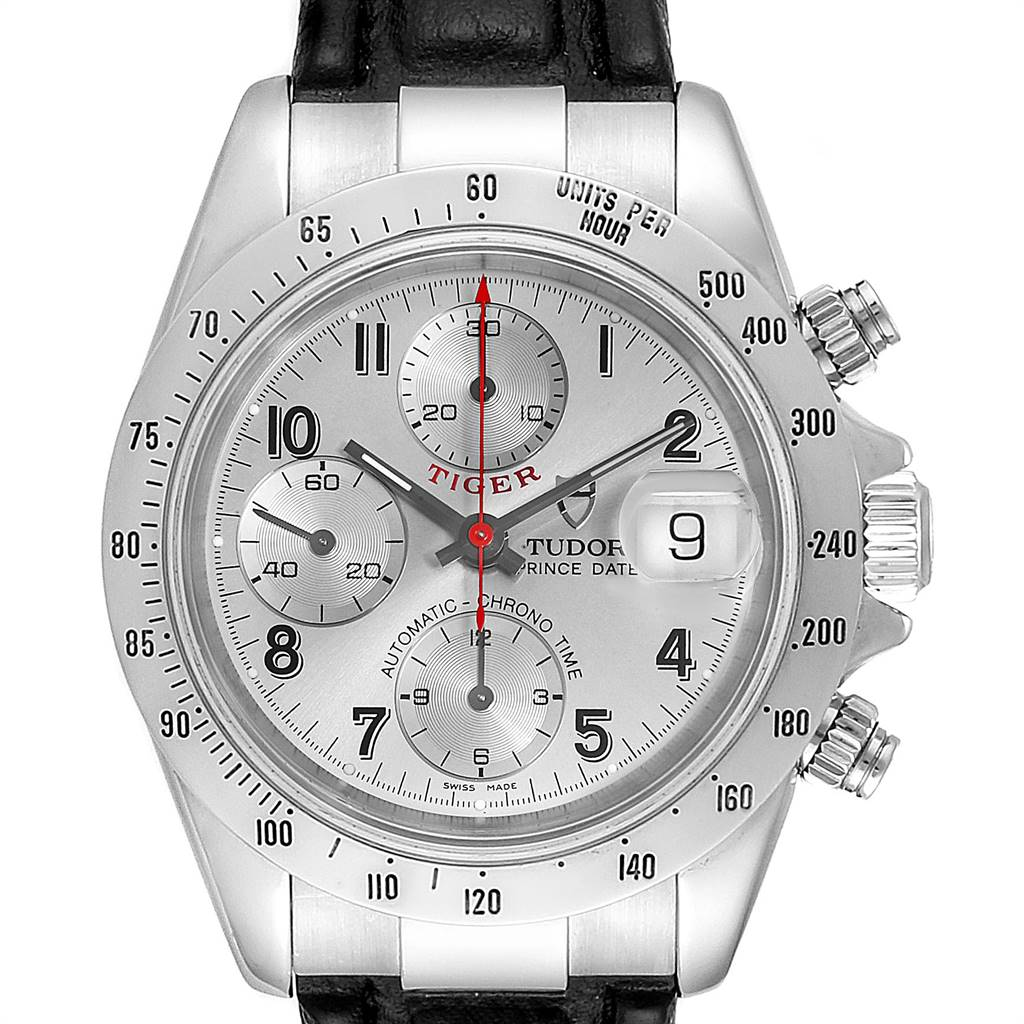 Photo of Tudor Tiger Woods Chronograph Silver Dial Steel Mens Watch 79280