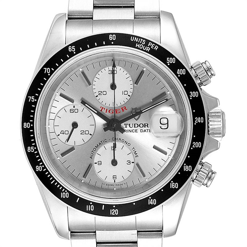 Tudor Tiger Woods Prince Chronograph Silver Dial Mens Watch 79260 SwissWatchExpo