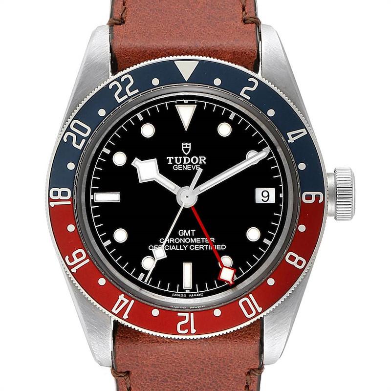 Tudor Heritage Black Bay GMT Pepsi Bezel Mens Watch 79830RB Box Card SwissWatchExpo