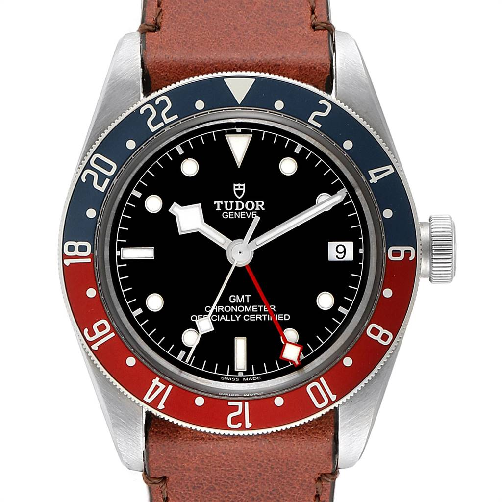 Photo of Tudor Heritage Black Bay GMT Pepsi Bezel Mens Watch 79830RB Box Card