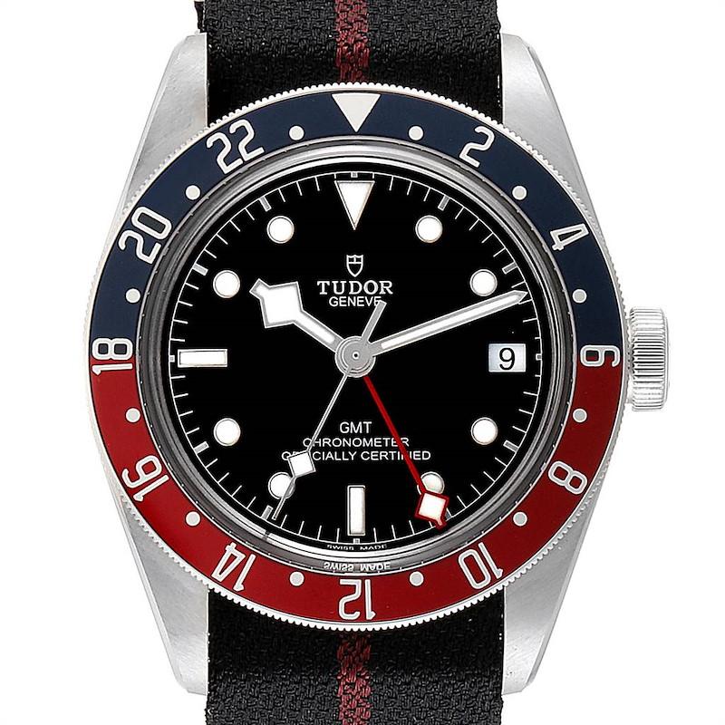 Tudor Heritage Black Bay GMT Pepsi Bezel Mens Watch 79830RB Unworn SwissWatchExpo