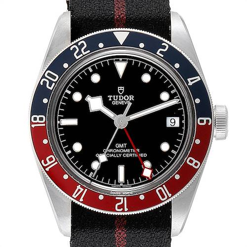 Photo of Tudor Heritage Black Bay GMT Pepsi Bezel Mens Watch 79830RB Unworn