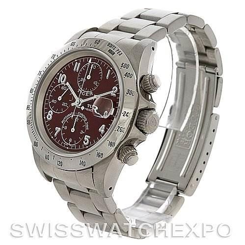 Tudor  Tiger Woods Chronograph watch Burgundy dial 79280 Watch SwissWatchExpo