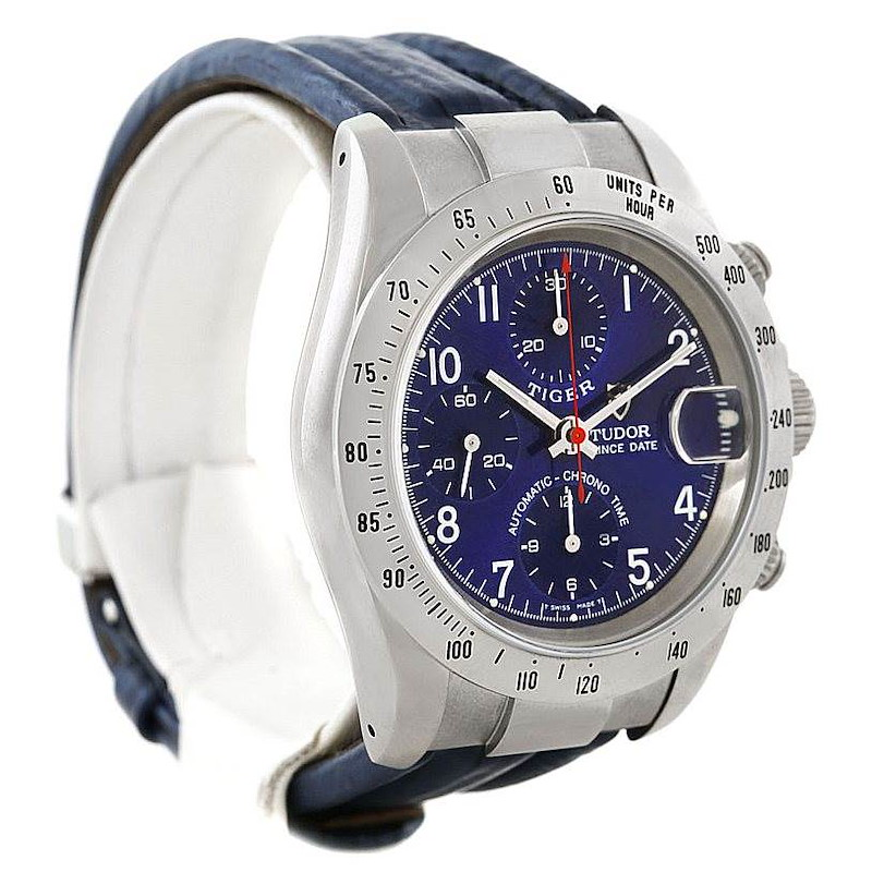 Tudor Tiger Woods Chronograph Steel Mens Watch 79280 SwissWatchExpo