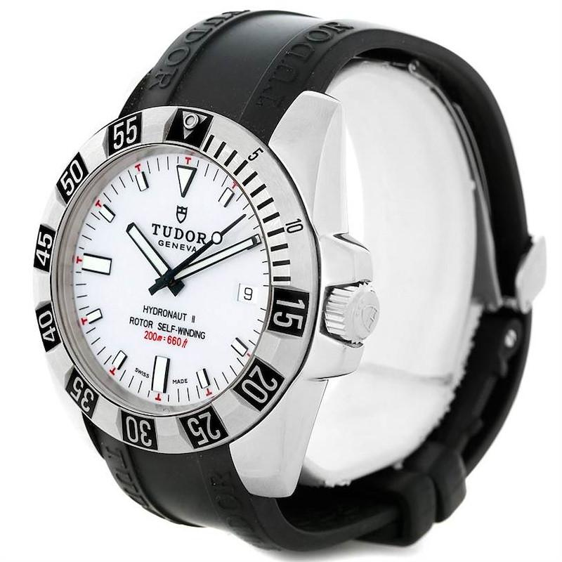 Tudor Hydronaut II White Dial Mens Steel Watch 20040 SwissWatchExpo