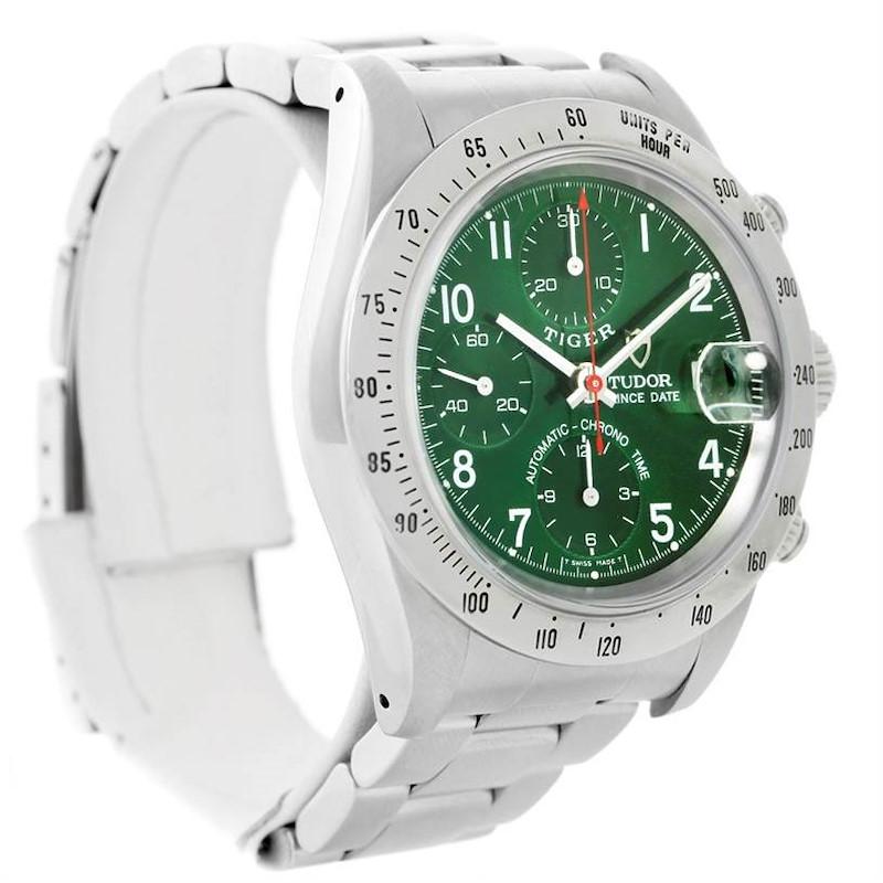 Tudor Tiger Woods Chronograph Steel Green Dial Mens Watch 79280 SwissWatchExpo