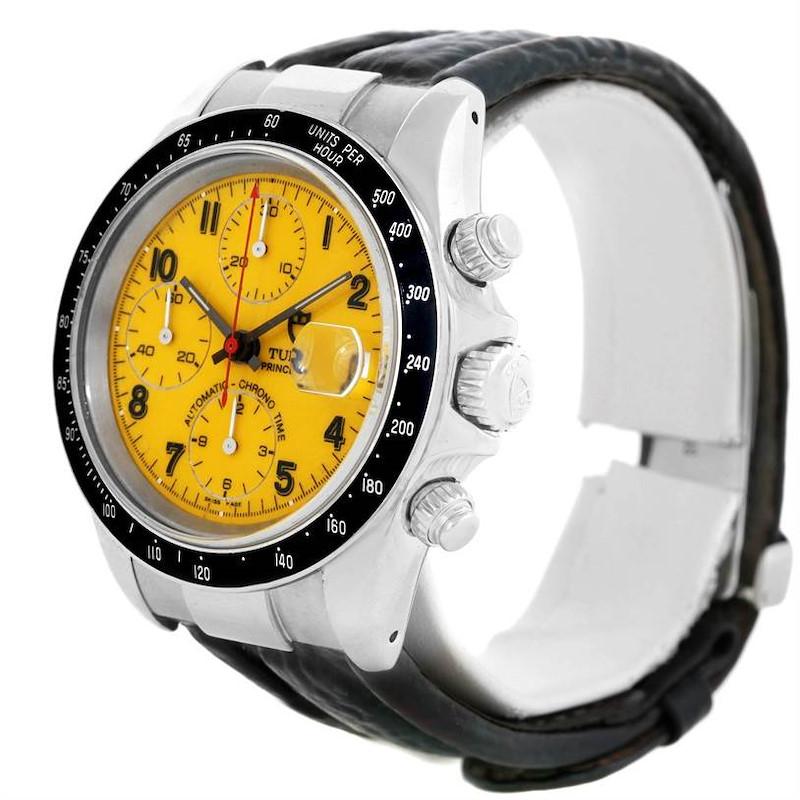 Tudor Tiger Prince Date Chronograph Yellow Dial Steel Watch 79260 SwissWatchExpo