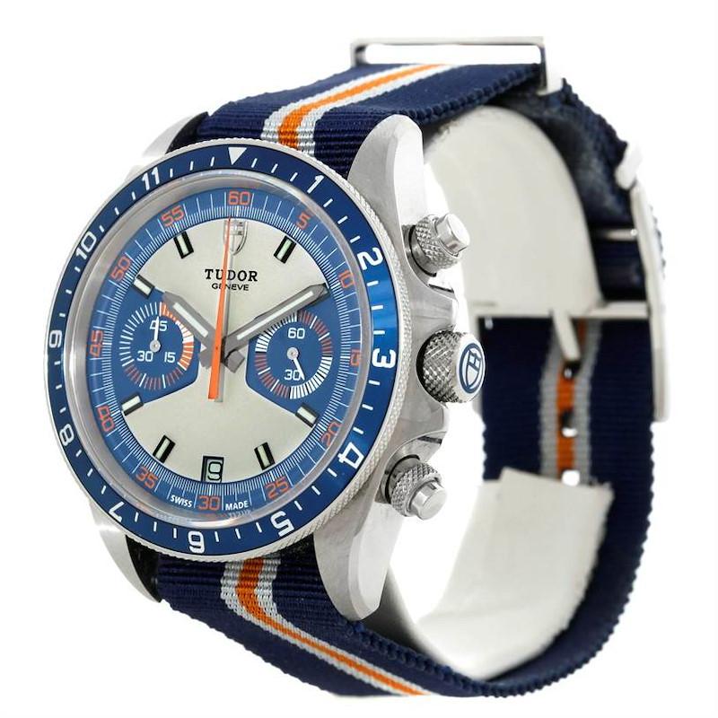 Tudor Heritage Chrono Blue Stainless Steel Mens Watch 70330 Unworn SwissWatchExpo