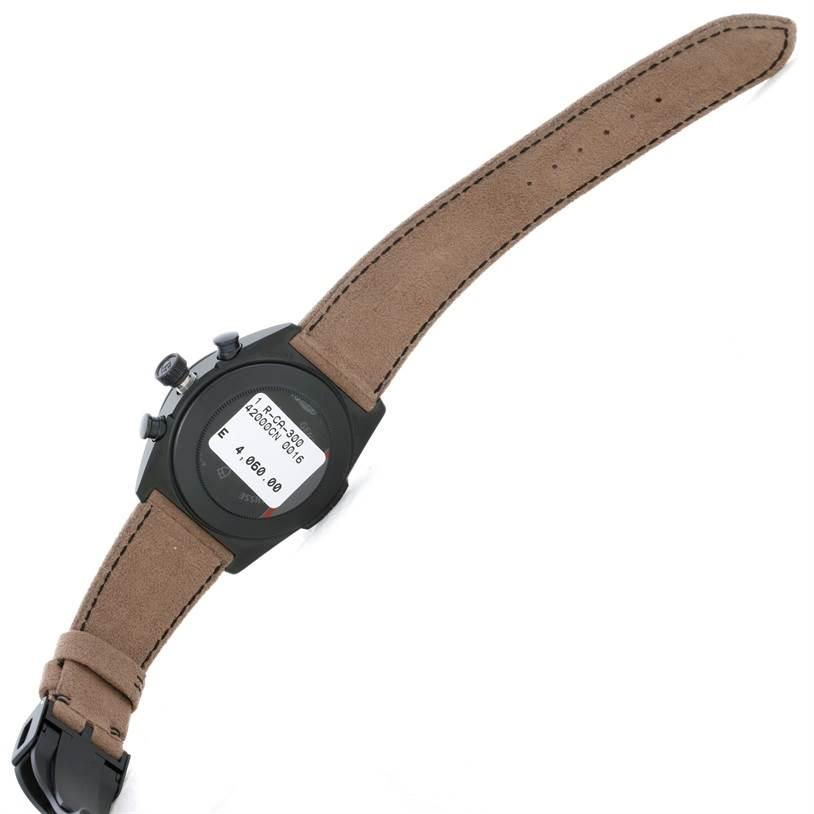 9122 Tudor Fastrider Blackshield Alcantara Strap Ceramic Watch 42000CN Unworn SwissWatchExpo