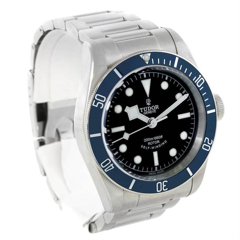 Tudor Heritage Black Bay Blue Bezel Steel Watch 79220 SwissWatchExpo