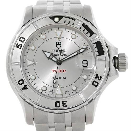 Photo of Tudor Prince Date Hydronaut Tiger Silver Dial Steel Watch 89190