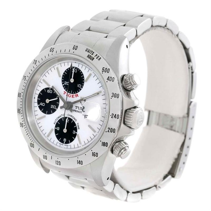 Tudor Tiger Woods White Dial Steel Mens Chronograph Watch 79280 SwissWatchExpo