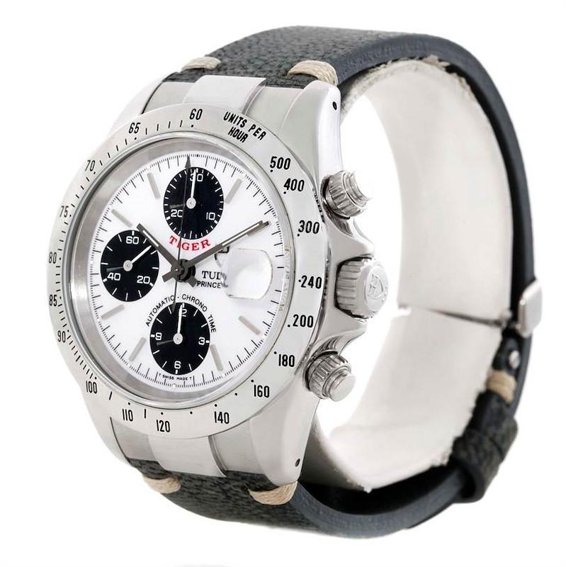 Tudor Tiger Woods Chronograph White Dial Steel Mens Watch 79280 SwissWatchExpo