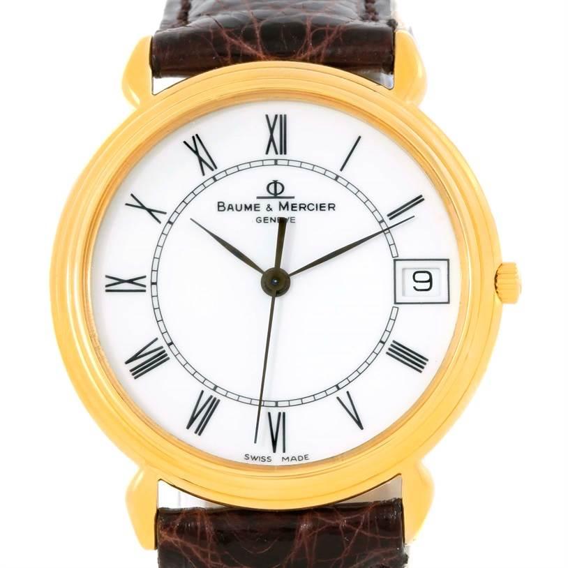 Photo of Baume Mercier Classima Quartz 18K Yellow Gold Watch 15163