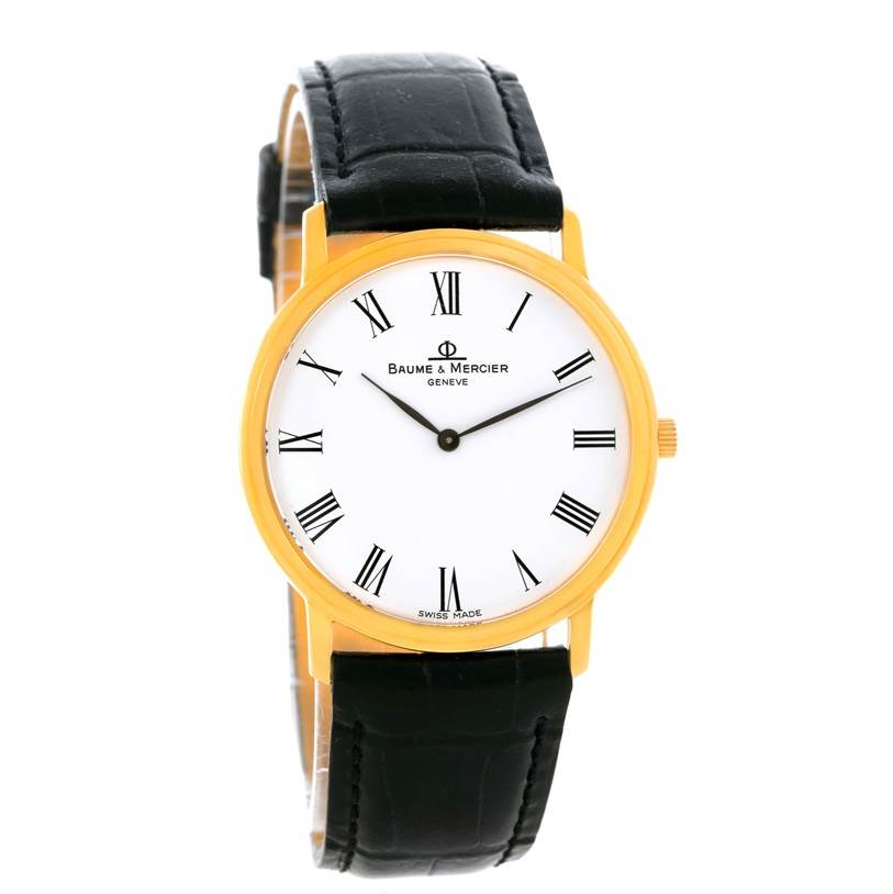 Baume Mercier Classima Ultra Thin Yellow Gold Quartz Watch MV045094 SwissWatchExpo