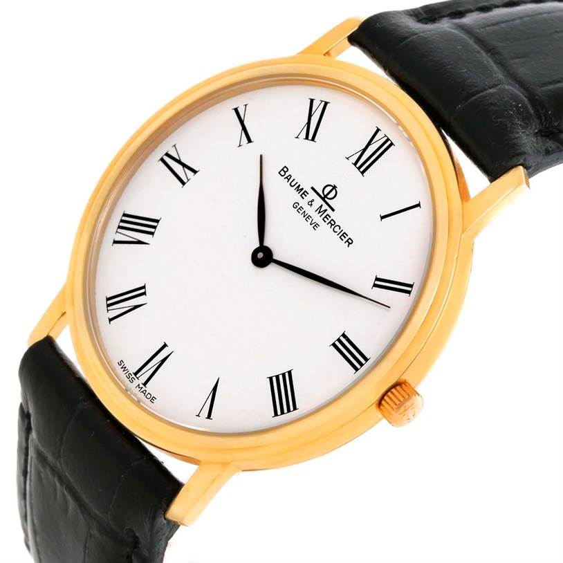 baume mercier classima ultra thin yellow gold quartz
