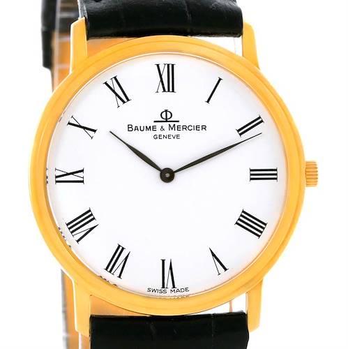 Photo of Baume Mercier Classima Ultra Thin Yellow Gold Quartz Watch MV045094