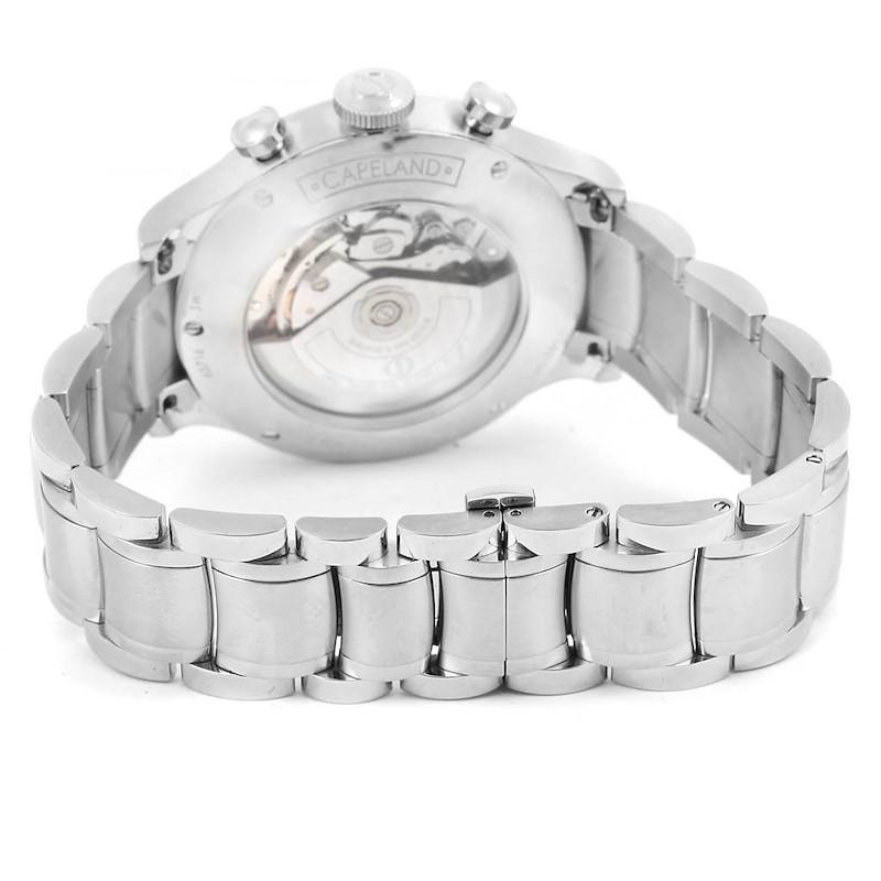 Baume Mercier Capeland Blue Dial Chronograph Steel Mens Watch 10066 SwissWatchExpo