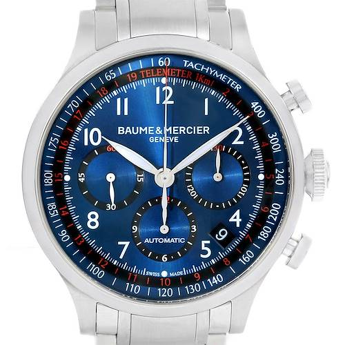 Photo of Baume Mercier Capeland Blue Dial Chronograph Steel Mens Watch 10066