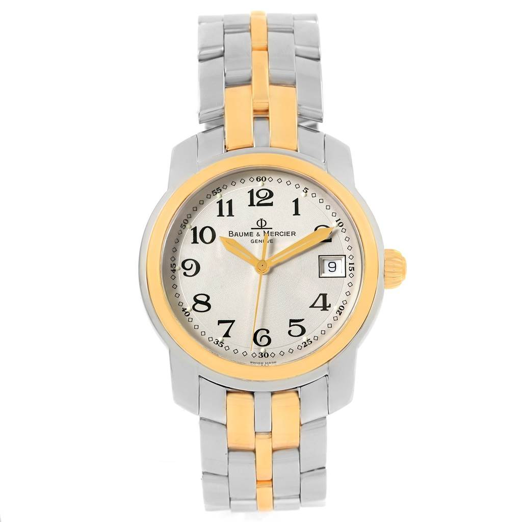 14892P Baume Mercier Capeland Steel 18K Yellow Gold Mens Watch MV045215 SwissWatchExpo